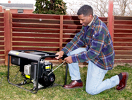 Operate Portable Generators safely